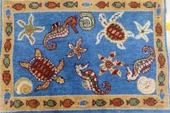 2x3-Sea-Life in Sea-Blue w/fish border