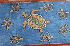 2x3-Sea-Turtle-Herd in Sea-Blue