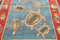 #1025 Turtles with fish border!  4x6.3