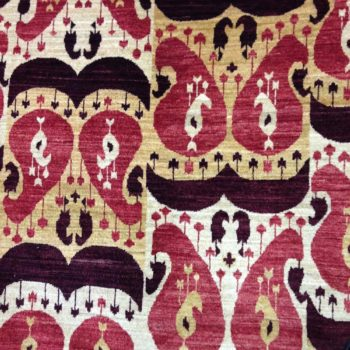 #7519 Ikat 7.10x10.5 A fabulous fine weave , made in Afghanistan of hand spun wools/veg.dyes