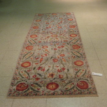 #7861 Suzani 2.1 x9 Made in Afghanistan of hand spun wools/veg. dyes