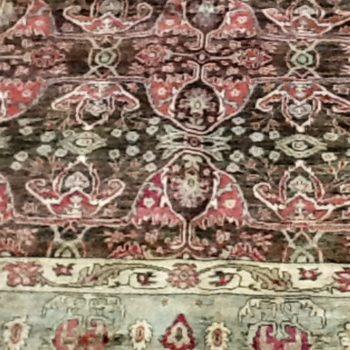 #9057 Bidjar 5.2x7.6 Made in Afghanistan of hand spun wools/veg. dyes