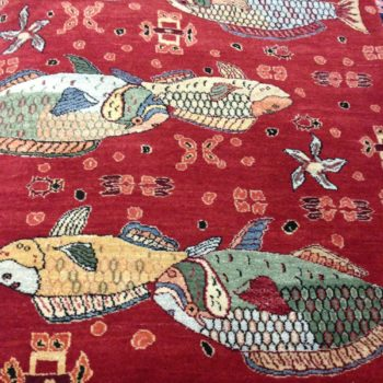 #8037 Sea Life Parrot Fish Family .Made in India of hand spun wools/veg. dyes