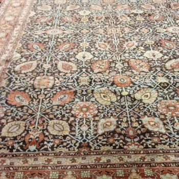 #5525 Tabriz 9.8x14.5 Fine weave , made in Afghanistan of hand spun wools/veg. dyes